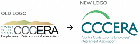 Old CCCERA logo and new CCCERA logo